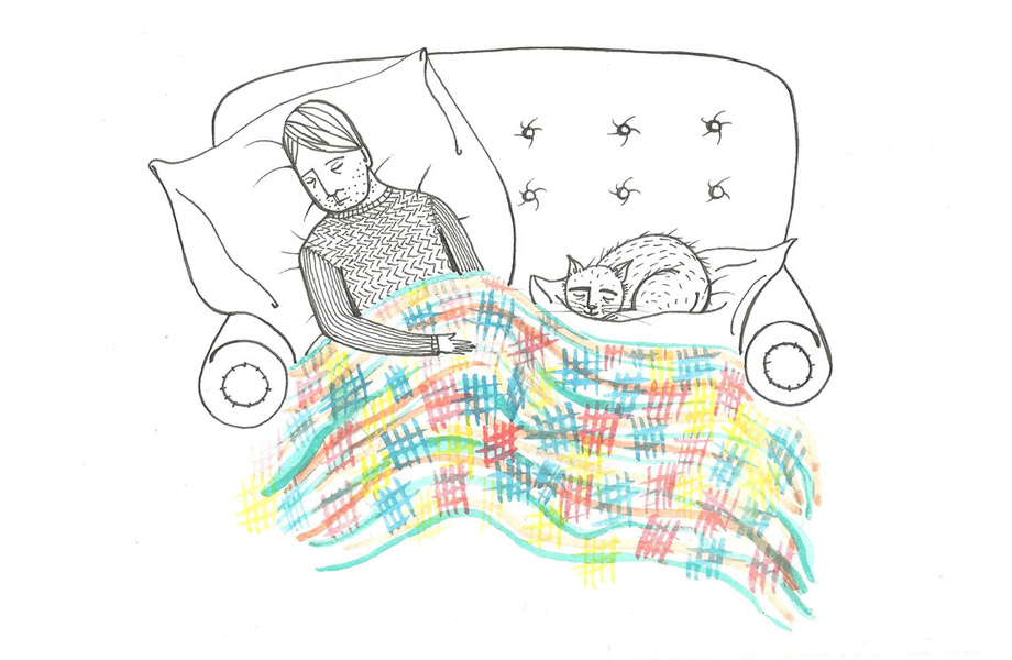 Person Resting in Bed
